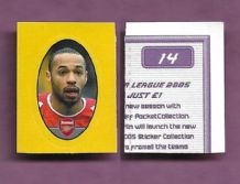 Arsenal Thierry Henry France 14 B